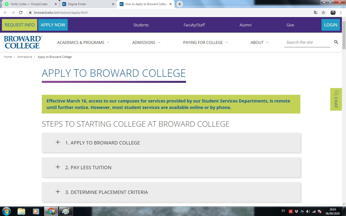 Broward College North Campus  coupon code: LDW25