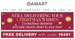 Damart coupon code input box: