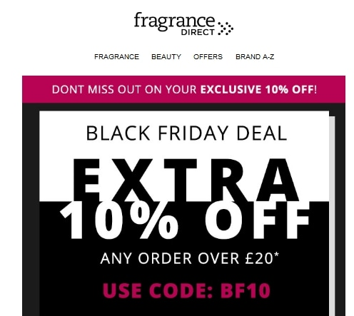 Fragrance Direct coupon code: BF10