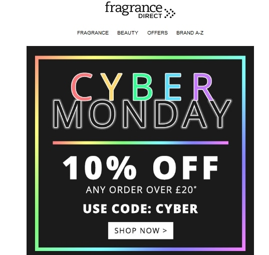 Fragrance Direct coupon code: CYBER