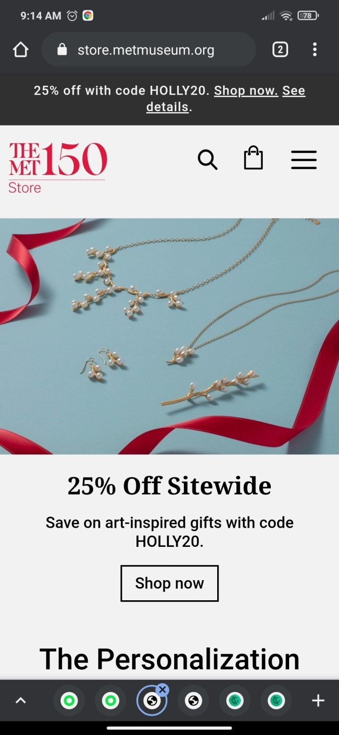 The Met Store coupon code: HOLLY20