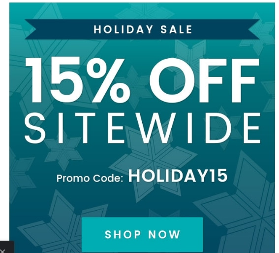 OnlineFabricStore.net coupon code: HOLIDAY15